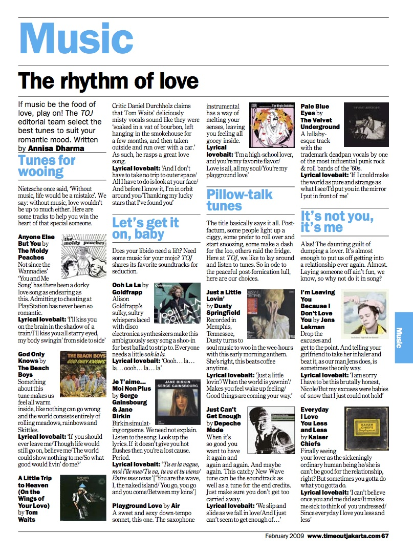 Annisa Dharma Sample - TOJ - Music - Feb 09 - The rhythm of love 01